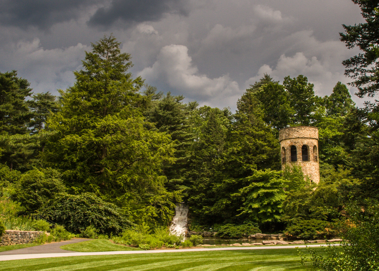 Tower and Clouds,  Longwood Gardens, PA, 2007